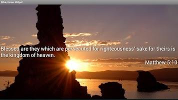 Screenshot of Bible Verses Widget