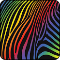 Colorful Zebra Live Wallpaper icon
