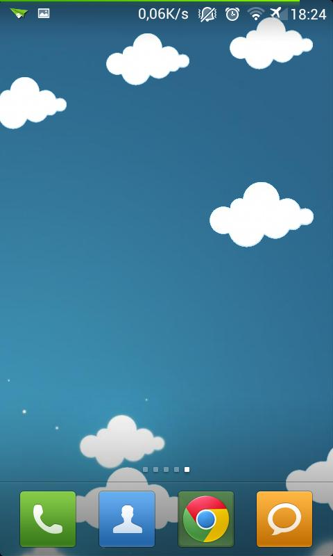 Cartoon Moving Clouds LWP - screenshot