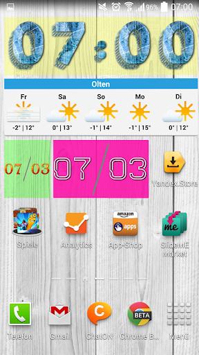 Yaclock digital clock Widget