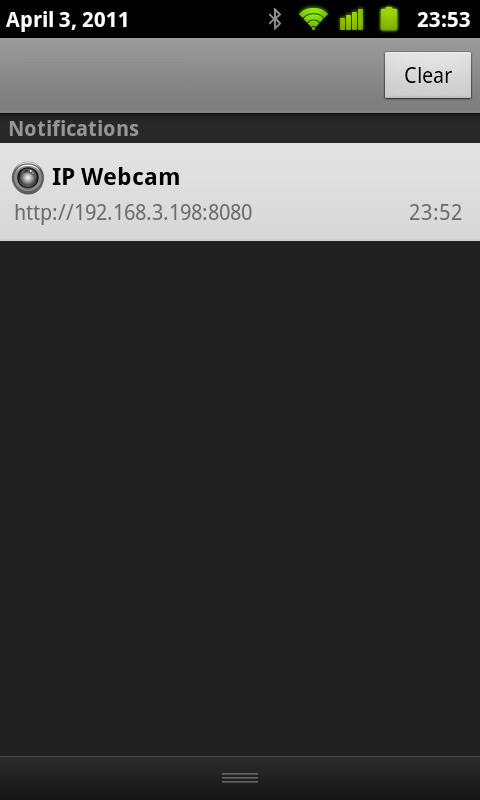 IP Webcam - screenshot