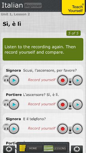 教育必備APP下載|Italian: Teach Yourself Pro 好玩app不花錢|綠色工廠好玩App