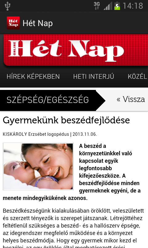 Hét Nap- screenshot