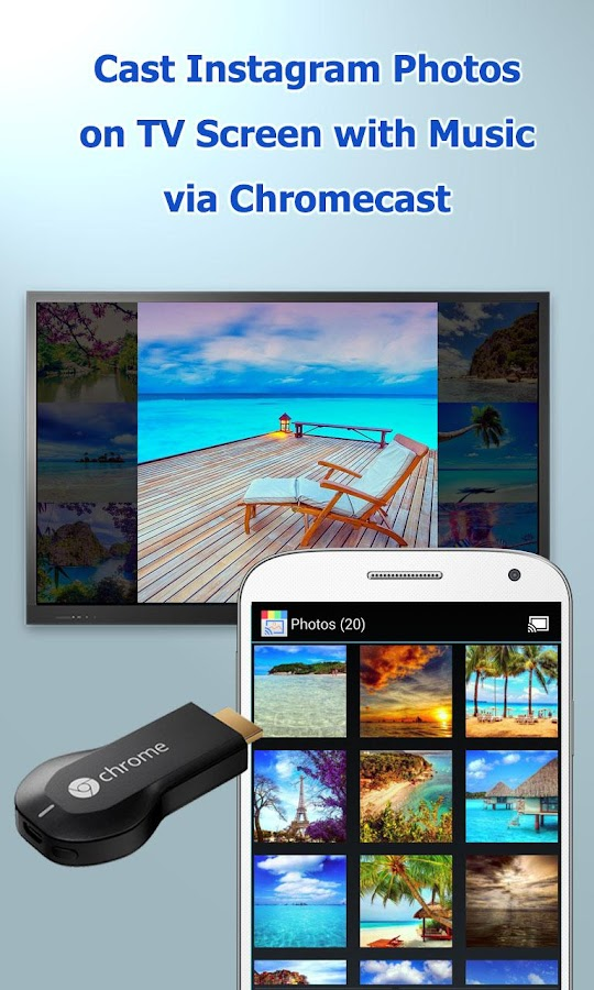 CastOnTV Instagram Chromecast- screenshot