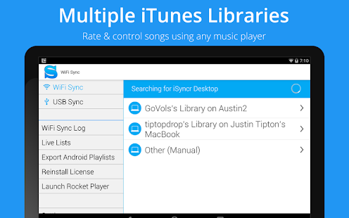 iSyncr for iTunes to Android- screenshot thumbnail