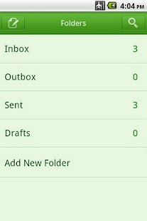 Easy SMS solid Green theme Screenshot 3