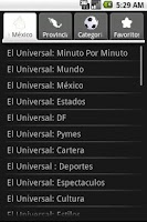 Screenshot of Newspapers from Mexico