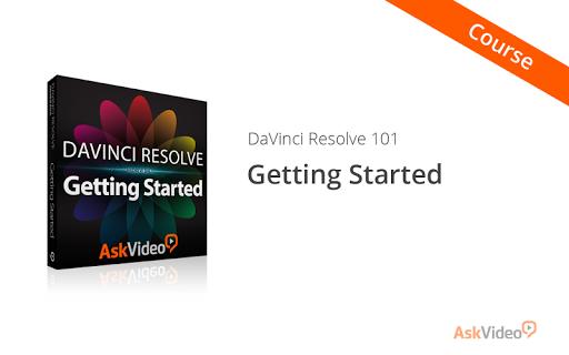 Starting with DaVinci Resolve