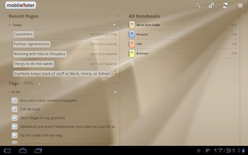 MobileNoter SE HD for Tablet - screenshot thumbnail