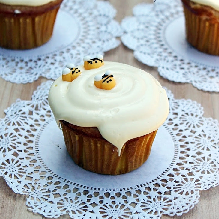 Honey Vanilla Cupcakes with Honey Buttercream Frosting Recipe