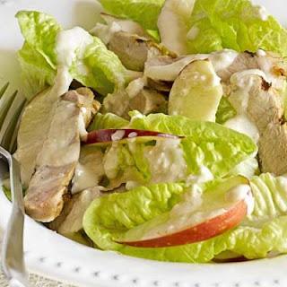 Mustard glazed pork with apple Caesar salad