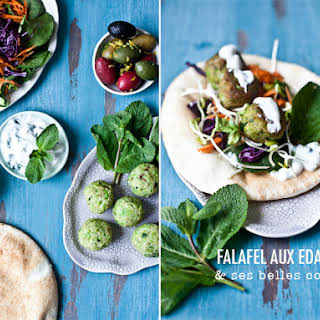 Falafel with Edamame.