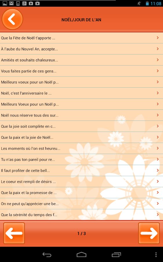 Souhaits différentes occasions- screenshot