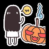 Free Japan Halloween Sticker