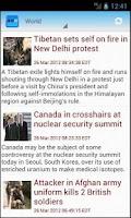 Screenshot of Andro World News