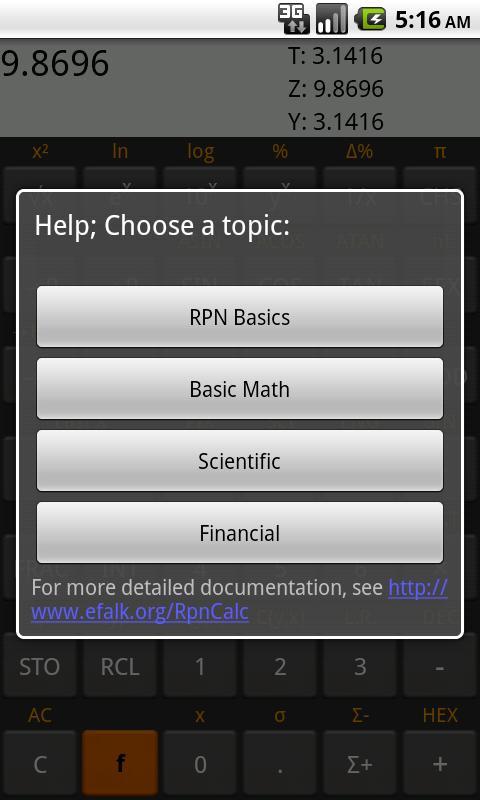 RpnCalc - Rpn Calculator- screenshot