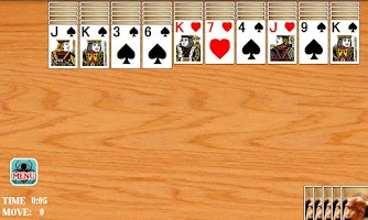 Screenshot of Solitaire Spider