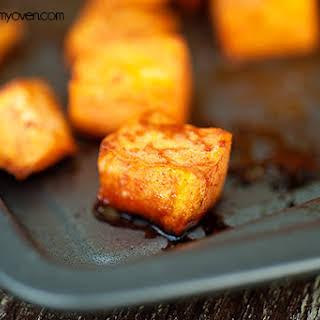 Honey Cinnamon Roasted Sweet Potatoes.