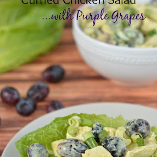 Curried Chicken Salad with Black Grapes.