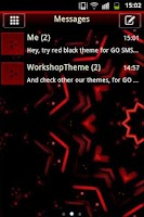 Screenshot of Red Black GO SMS Theme