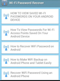 how to forget wifi android