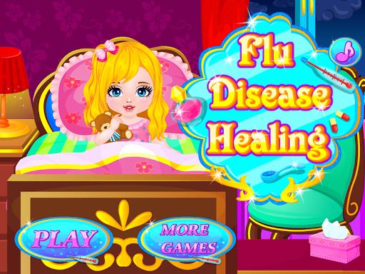 インフルエンザの病気の医者のゲーム