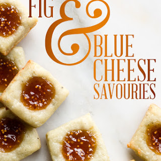 Day 19, Fig & Blue Cheese Savouries.