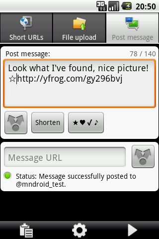URLy - the URL sharer- screenshot
