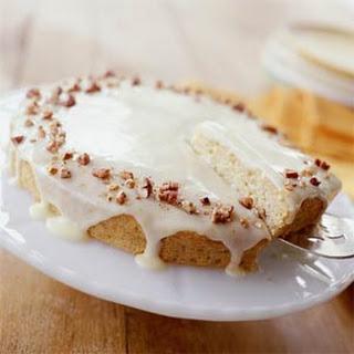 Spaghetti Squash Cake with Orange-Cream Cheese Glaze