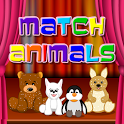 Cute animals match 3 game icon