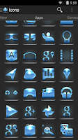 Screenshot of Future Blue - Icon Pack