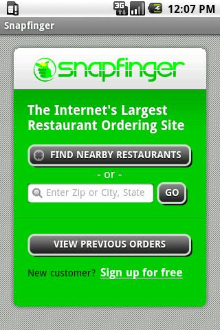 Snapfinger Restaurant Ordering - screenshot
