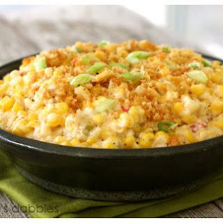 Cheesy Skillet Scalloped Corn.