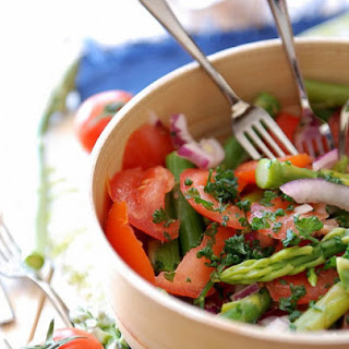 Ingredients list for Tomato Salad, Asparagus