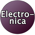 Electronica from 80s Button logo