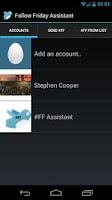Screenshot of Follow Friday Assistant