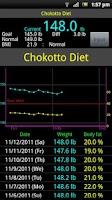 Screenshot of Chokotto Diet