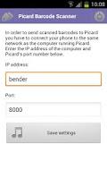 Screenshot of Picard Barcode Scanner