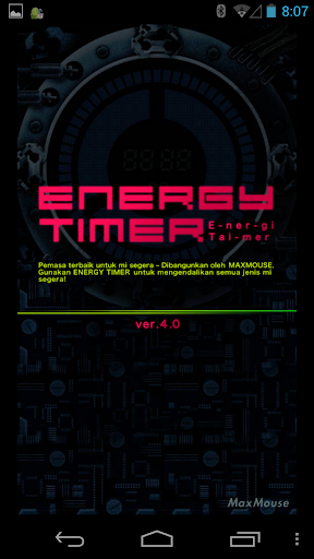 Energy Timer Malay English