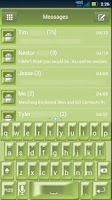 Screenshot of GO SMS Green Pearl Theme