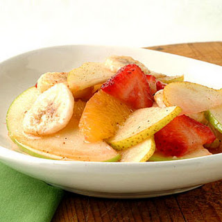 Fresh Fruit Salad with Nutmeg-Cinnamon Syrup.