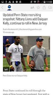 PennLive: Penn State Football- screenshot thumbnail