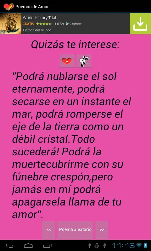 Poemas de Amor- screenshot