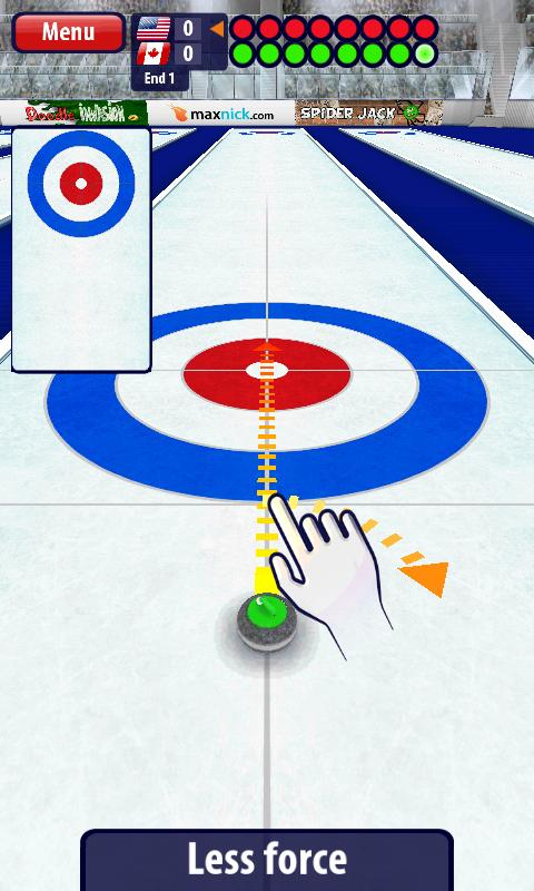 Curling3D - screenshot