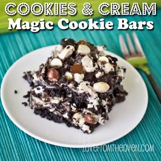 Cookies & Cream Magic Cookie Bars.