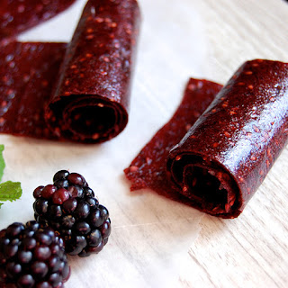 Homemade Blackberry Paleo Fruit Roll-Ups Recipe