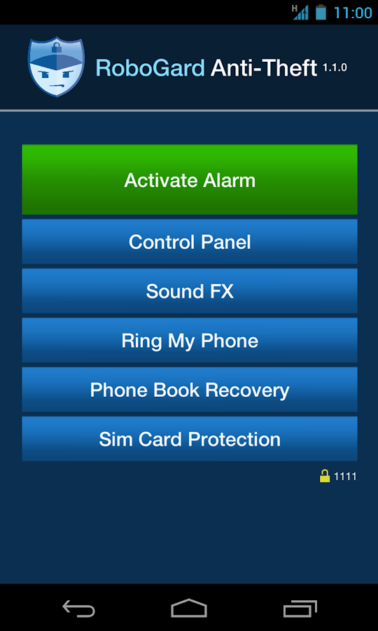 RoboGard Anti Theft Alarm Lite - screenshot
