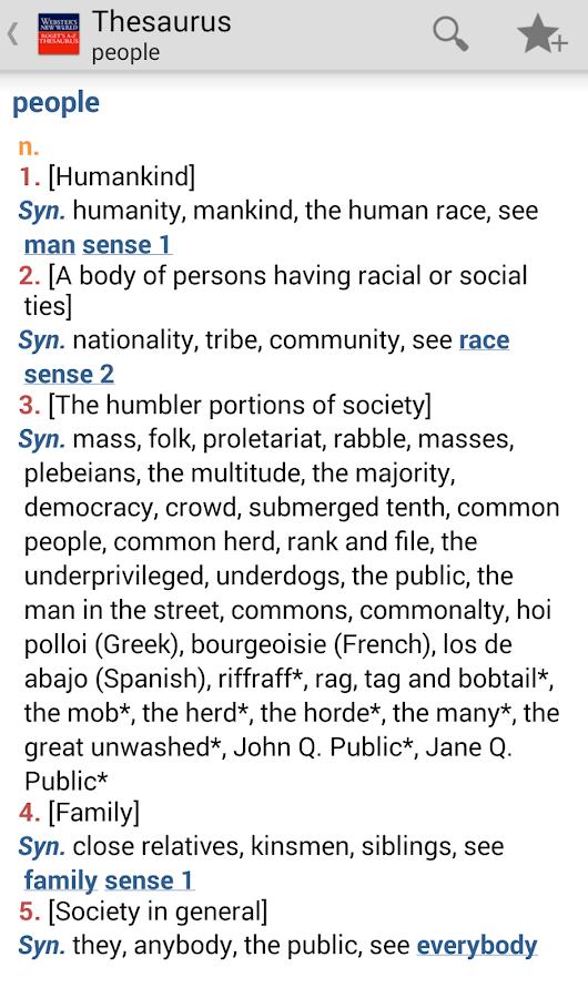 Webster's Thesaurus TR - screenshot