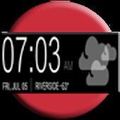 UCCW skin - black sense clock