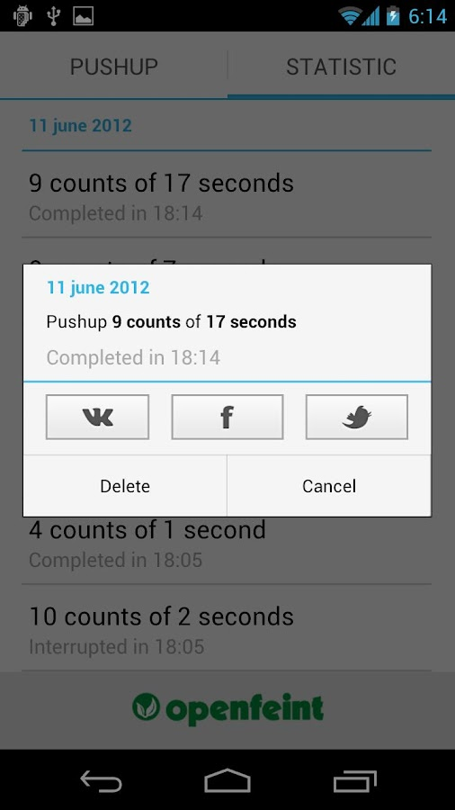 Push-ups - screenshot